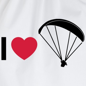 i love paragliding T-Shirts - Drawstring Bag
