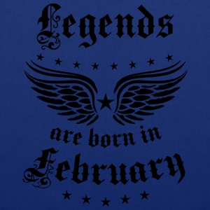 Legends are born in February Birthday T-Shirt  - Stoffbeutel