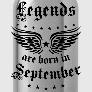 Legends are born in September Geburtstag T-Shirt - Trinkflasche