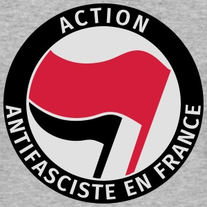 Action Antifasciste en France Sweat-shirts - Tee shirt près du corps Homme