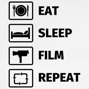 EAT SLEEP FILM REPEAT T-shirts - Baseballkasket