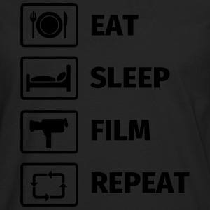 EAT SLEEP FILM REPEAT T-shirts - Långärmad premium-T-shirt herr