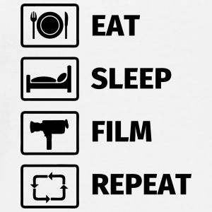 EAT SLEEP FILM REPEAT Tazze & Accessori - Maglietta Premium da uomo