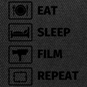 EAT SLEEP FILM REPEAT T-shirts - Snapbackkeps