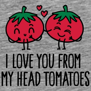 I love you from my head tomatoes Caps & luer - Premium T-skjorte for menn