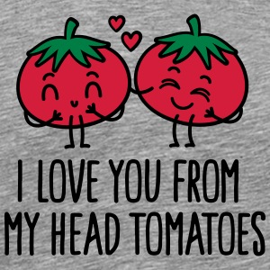 I love you from my head tomatoes Ropa deportiva - Camiseta premium hombre