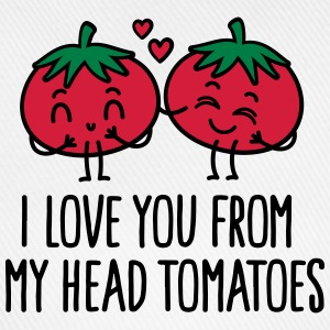 I love you from my head tomatoes Tröjor - Basebollkeps