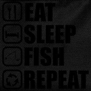 Eat,sleep,fish,repeat - Angler fisher T-shirt - Kinder Rucksack