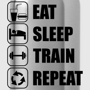Eat,sleep,train,repeat Gym T-shirt - Vattenflaska