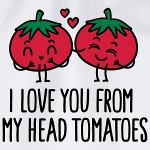 I love you from my head tomatoes Sports wear - Drawstring Bag