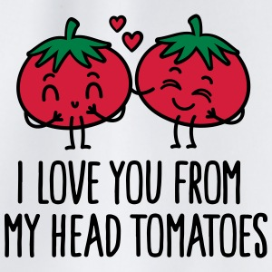 I love you from my head tomatoes Caps & Mützen - Turnbeutel