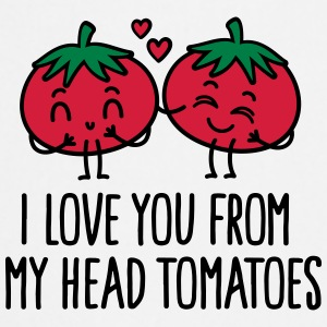 I love you from my head tomatoes Caps & Mützen - Kochschürze