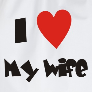 I love my wife - Valentinstags T-Shirt - Turnbeutel