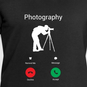 Photography is calling me! T-Shirts - Men's Sweatshirt by Stanley & Stella