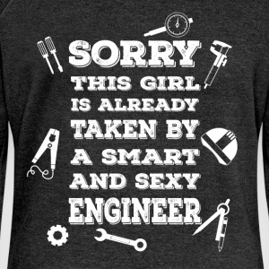 Sorry this girl is already taken by a smart and se - Women's Boat Neck Long Sleeve Top