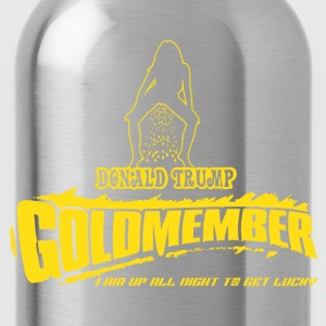 Donald Trump Goldmember - Golden Shower Club T-Shirts - Trinkflasche
