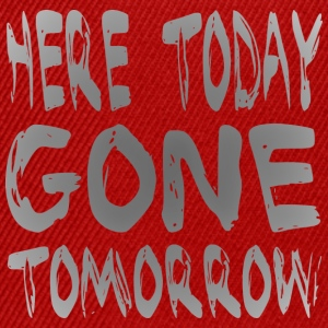 Here Today Gone Tomorrow T-shirts - Snapback cap
