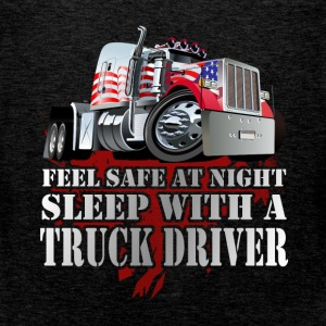 Feel safe at night sleep with a truck driver - Men's Premium Tank Top