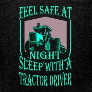 Feel safe at night sleep with a tractor driver - Men's Premium Tank Top