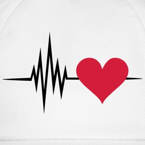 Pulse, frequency, heartbeat, I Love you heart rate T-Shirts - Baseball Cap