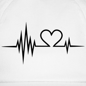 Pulse, frequency, heartbeat, Valentines Day, heart T-Shirts - Baseball Cap