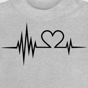 Pulse, frequentie, Valentijnsdag, I love you, hart Shirts - Baby T-shirt