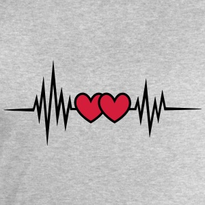 Pulse, frequency heartbeat, hearts Valentine's Day T-Shirts - Men's Sweatshirt by Stanley & Stella
