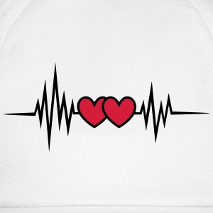 Pulse, frequency heartbeat, hearts Valentine's Day T-Shirts - Baseball Cap