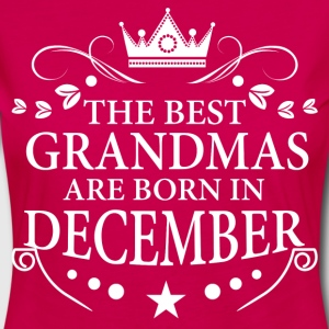 The Best Grandmas Are Born In December T-Shirts - Women's Premium Longsleeve Shirt