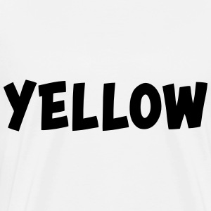 The color yellow Long sleeve shirts - Men's Premium T-Shirt