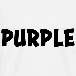 The color purple Hoodies - Men's Premium T-Shirt