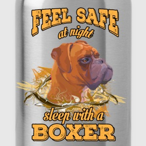 Feel safe at night. Sleep with a boxer - Water Bottle