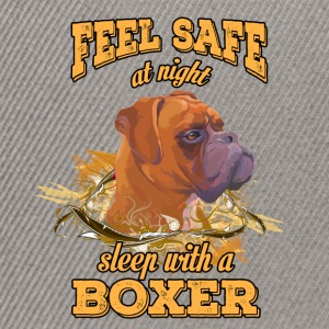 Feel safe at night. Sleep with a boxer - Snapback Cap