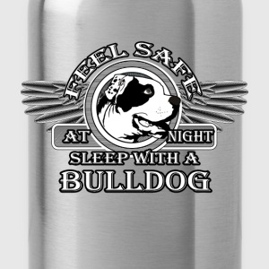 Feel safe at night. Sleep with a bulldog - Water Bottle