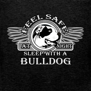 Feel safe at night. Sleep with a bulldog - Men's Premium Tank Top