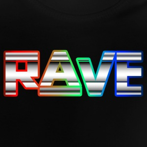 Rave Neon Rainbow Psy Text Techno Family T-Shirts - Baby T-Shirt