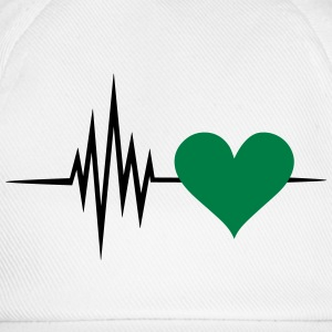 Pulse, frequency, heartbeat, vegan heart rate Mugs & Drinkware - Baseball Cap
