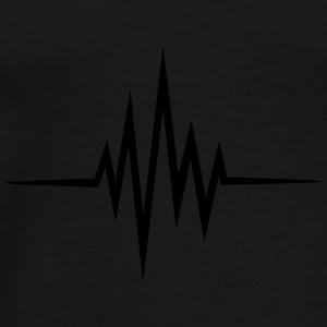 Pulse, frequency, heartbeat, music, heart rate, dj Bags & Backpacks - Men's Premium T-Shirt
