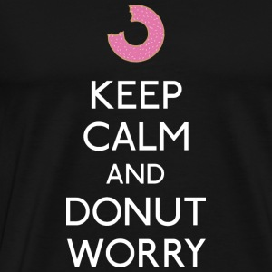 Keep Calm Donut worry Long Sleeve Shirts - Men's Premium T-Shirt