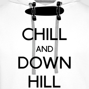 Chill and downhill Long Sleeve Shirts - Men's Premium Hoodie