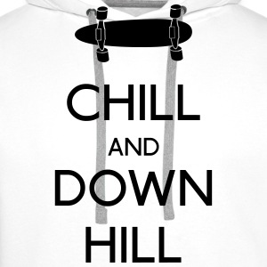 Chill and downhill chill en afdaling Shirts met lange mouwen - Mannen Premium hoodie
