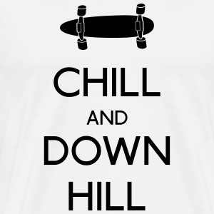 Chill and downhill Long Sleeve Shirts - Men's Premium T-Shirt