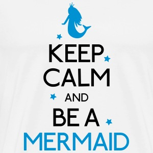 keep calm mermaid mantener calma sirena Camisetas de manga larga - Camiseta premium hombre