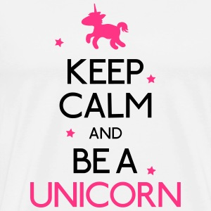 keep calm and be a unicorn vær rolige og en enhjørning Skjorter med lange armer - Premium T-skjorte for menn