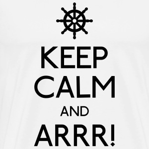 keep calm pirate holde ro pirat Skjorter med lange armer - Premium T-skjorte for menn