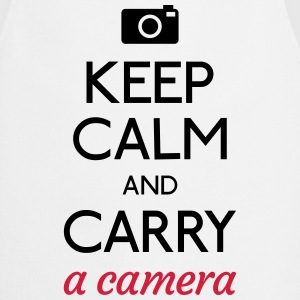 keep calm and camera holde ro og kamera Skjorter med lange armer - Kokkeforkle