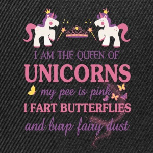 I am the Queen of the unicorns Baby Long Sleeve Shirts - Snapback Cap