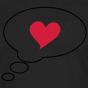 Text bubble heart, comic bubble, speech bubble,  T-Shirts - Men's Premium Longsleeve Shirt