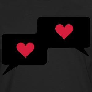 Text bubble hearts, comic bubble, speech bubble,  T-Shirts - Men's Premium Longsleeve Shirt