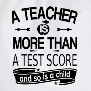 A teacher is more than a test grade (white) Baby Long Sleeve Shirts - Drawstring Bag